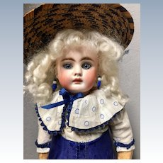 Antique Belton doll in French manner with Antique Clothing