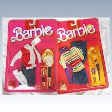 Two Vintage  Barbie Fashions MIP