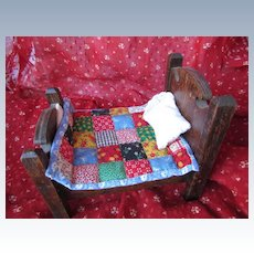 Tiny Quilt for Dollhouse Bed