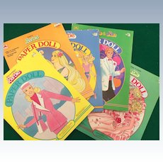 Vintage 80's Barbie Paper Dolls 5 Books