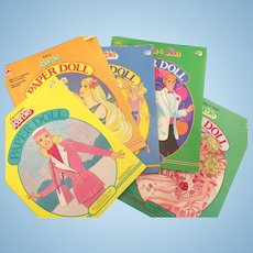 Vintage 80's Barbie Paper Dolls 5 Books
