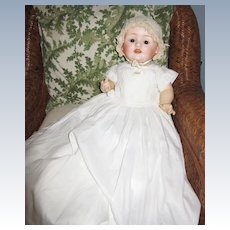 Antique Elaborate Christening gown and slip for Large Doll