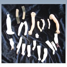 Lot of Arms for Vintage and Antique dolls