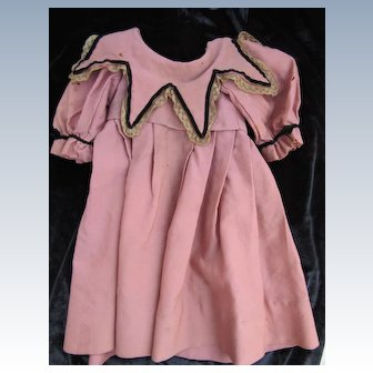Antique Doll Dress in Pink