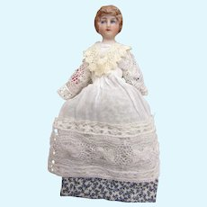 Antique Dollhouse Lady in vintage clothing