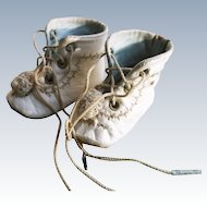 Awesome White Boots for Antique French or German