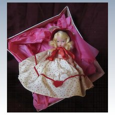 """Nancy Ann Storybook Bisque Blonde """"Queen of Hearts"""" with Box"""