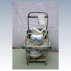 Metal Doll's Washstand Cabinet Sized