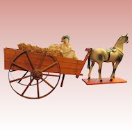Antique Cart, Horse and Doll