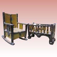 Antique Iron Dollhouse Furniture