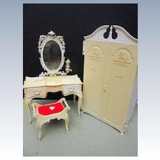 Vintage Mattel Suzy Goose Barbie Wardrobe and Dressing Table