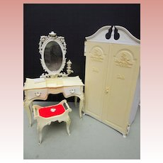 Vintage Mattel Suzy Goose Barbie Wardrobe and Dressing Table