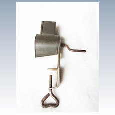 Vintage Doll's Metal Meat Grinder in small size