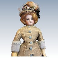 Antique French Fashion Doll in Antique Dress