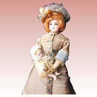 Antique All Bisque Baby for Fashion Doll