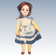 Antique Tiny German Doll with Compo Body