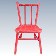 Antique Red Doll chair for Large Doll with Original Paint