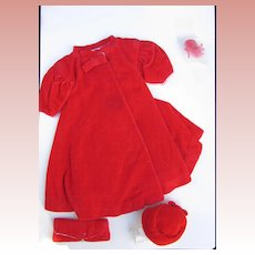 Vintage Barbie Red Flare , AC