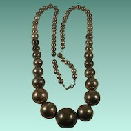 Massive Sterling Bead on Chain Necklace