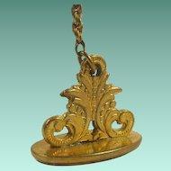 Vintage Gold Filled Seal Fob