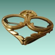 Art Nouveau Era Gold Filled Watch Pin