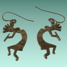Large Sterling Kachina Drop Earrings
