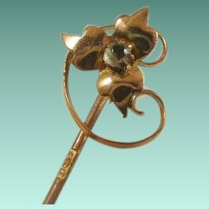 Vintage 9ct Rose Gold Stick Pin
