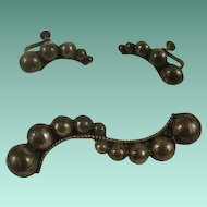 """Aaron Mexico Sterling """"Worm"""" Brooch and Earrings Set"""