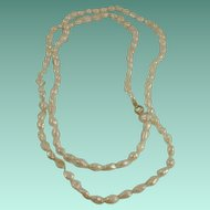 "14k 30"" Hand Knotted Fresh Water Pearl Necklace"