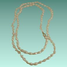 """14k 30"""" Hand Knotted Fresh Water Pearl Necklace"""