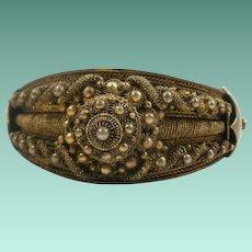 Intricate Vintage 835 Silver Bangle Bracelet