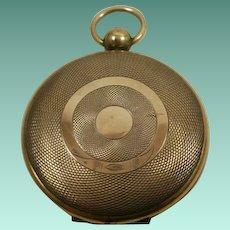 Civil War Era Machine Turned Gold Filled Locket for Ambrotype