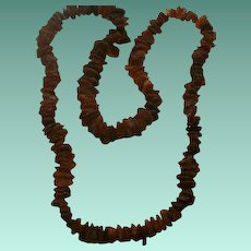 "36"" Vintage Natural Baltic Amber Nugget Necklace"