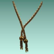 Retro Era Drop Necklace