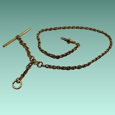 Vintage Gold Filled Solid Rope Watch Chain