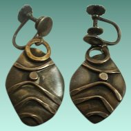Early Watson Honanie Hopi Handmade Sterling Earrings
