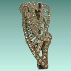 Art Deco Era Paste Lorgnette Dress Clip