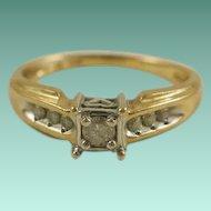 Vintage 10k Diamond Promise/Engagement Ring