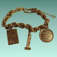 Vintage Sears and Roebuck Charm Bracelet