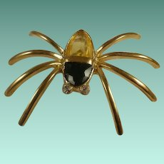 Wonderful Glass Body Spider Brooch