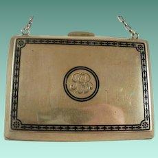 Vintage Sterling Enamel Purse 156 Grams