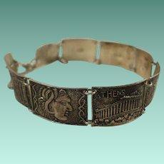 "900 Silver ""Athens"" Souvenir Panel Bracelet"