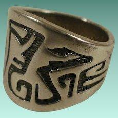 Carolyn Pollack Hopi Inspired Serpent Ring 7 1/2