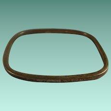 Solid Sterling Four Sided Bangle Bracelet