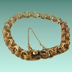 Triple Etched Loop Gold Filled Starter Charm Bracelet
