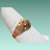 Art Deco Era Gold Belcher Ring ~9