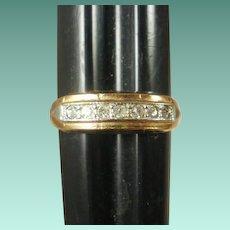 Art Deco Era Gold Filled Paste Ring