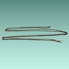 Art Deco Era Sterling Silver Ladies Watch Chain