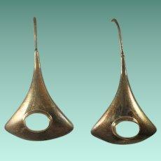 Sterling MOP Long Drop Earrings