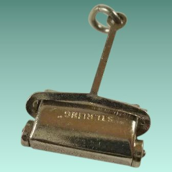 "Articulated Sterling ""Bissel"" Style Sweeper Charm"